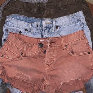 Free People low rise cut off shorts
